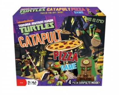 Gra Żółwie Ninja Catapult Pizza Game